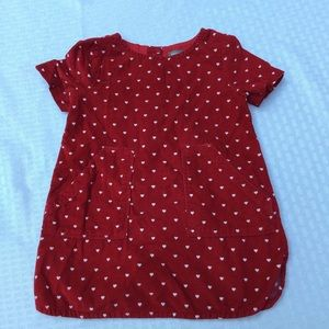 BabyGap Red Heart Corduroy dress 12-18M